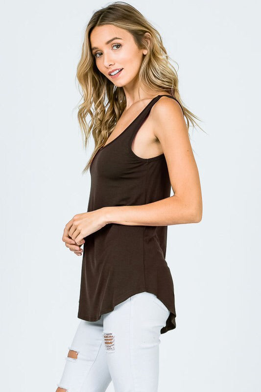 Trust In Me Tank-Brown