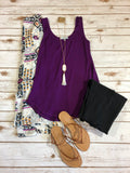 Trust In Me Tank- Purple