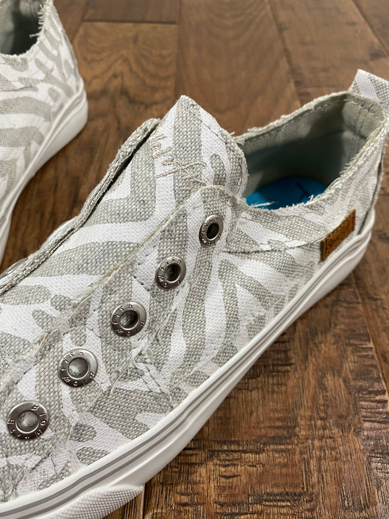 Play Blowfish Canvas Sneakers-Zebra