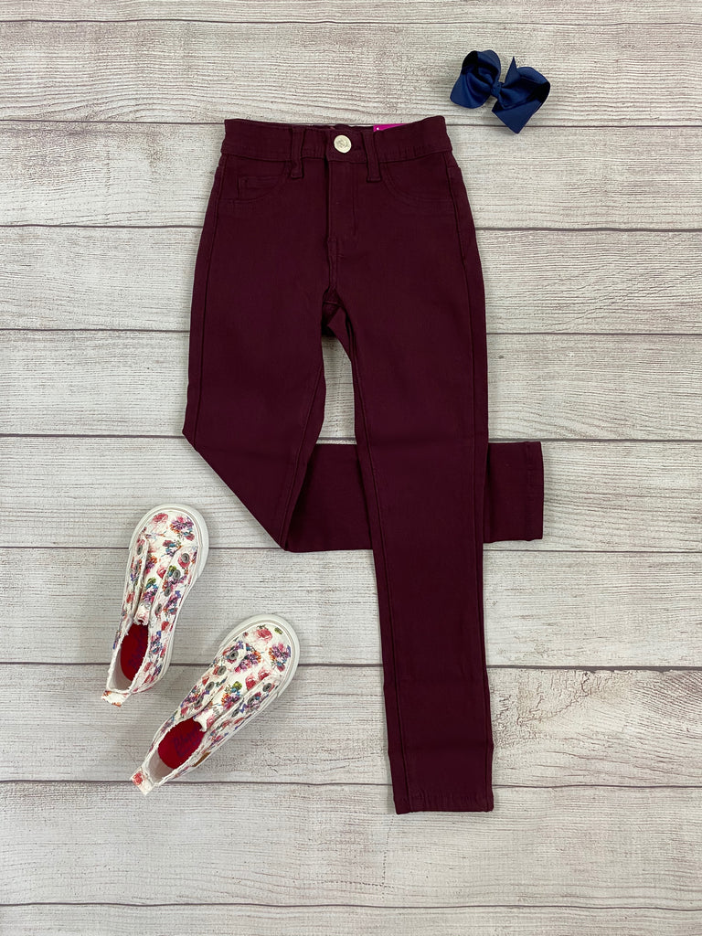 YOUTH-Plum Hyper Stretch Pants