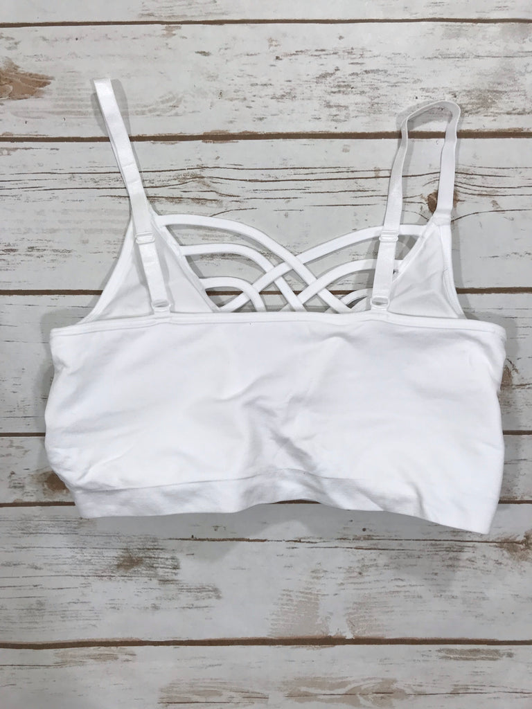 White Padded Adjustable Bralette