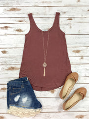 Trust In Me Tank-Dark Mauve