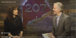 The Maine Birthday Book and Tonya Shevenell on 207 TV segment with Rob Caldwell