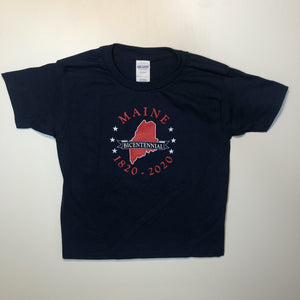 Youth sizes - Maine Bicentennial T-Shirt - Blue