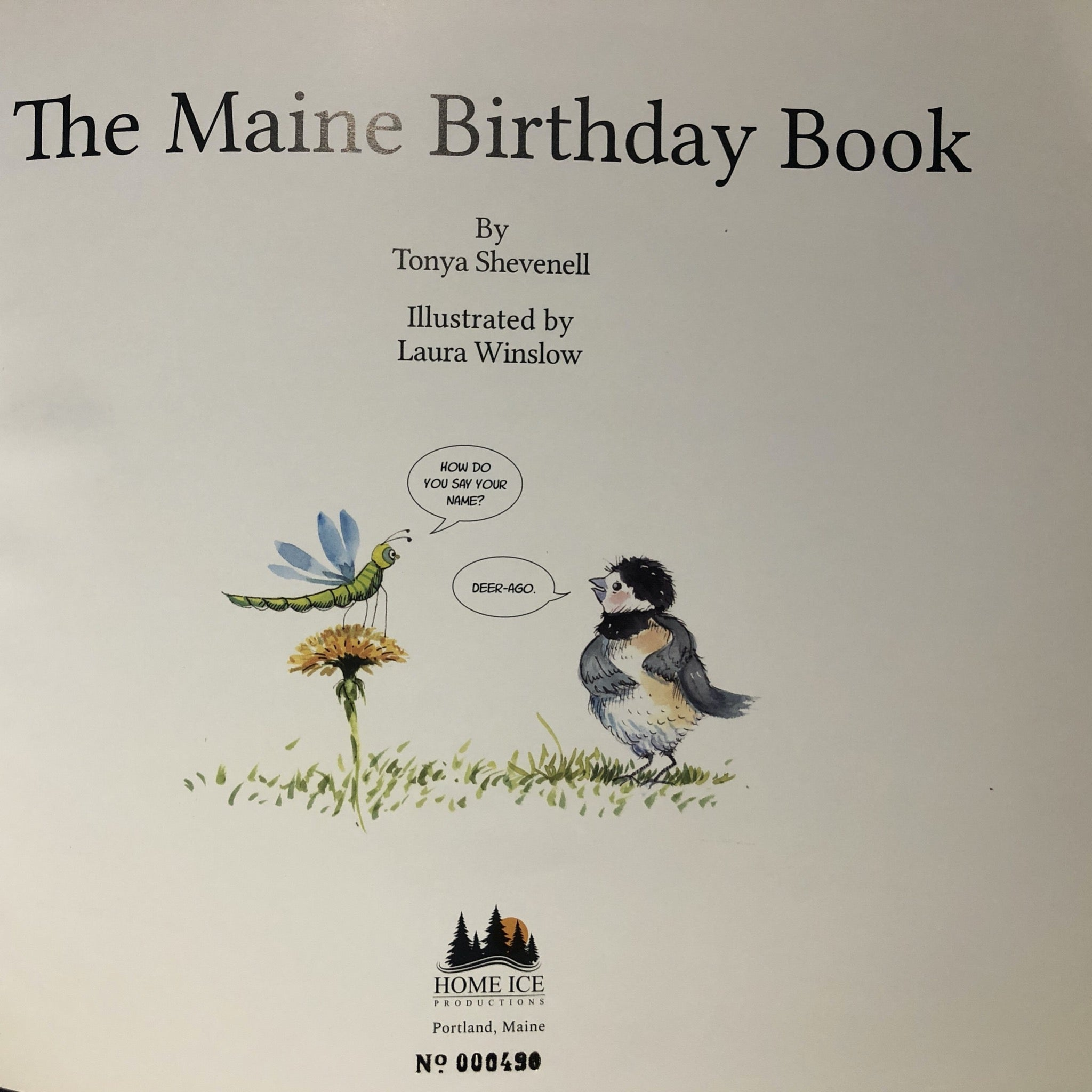 WINTER SPECIAL: The Maine Birthday Book - Two-book Package with 4 note cards: Book No. 490, and one non-numbered book