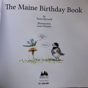 SPECIAL: The Maine Birthday Book - Two-book Package with 4 note cards: Book No. 469, and one non-numbered book