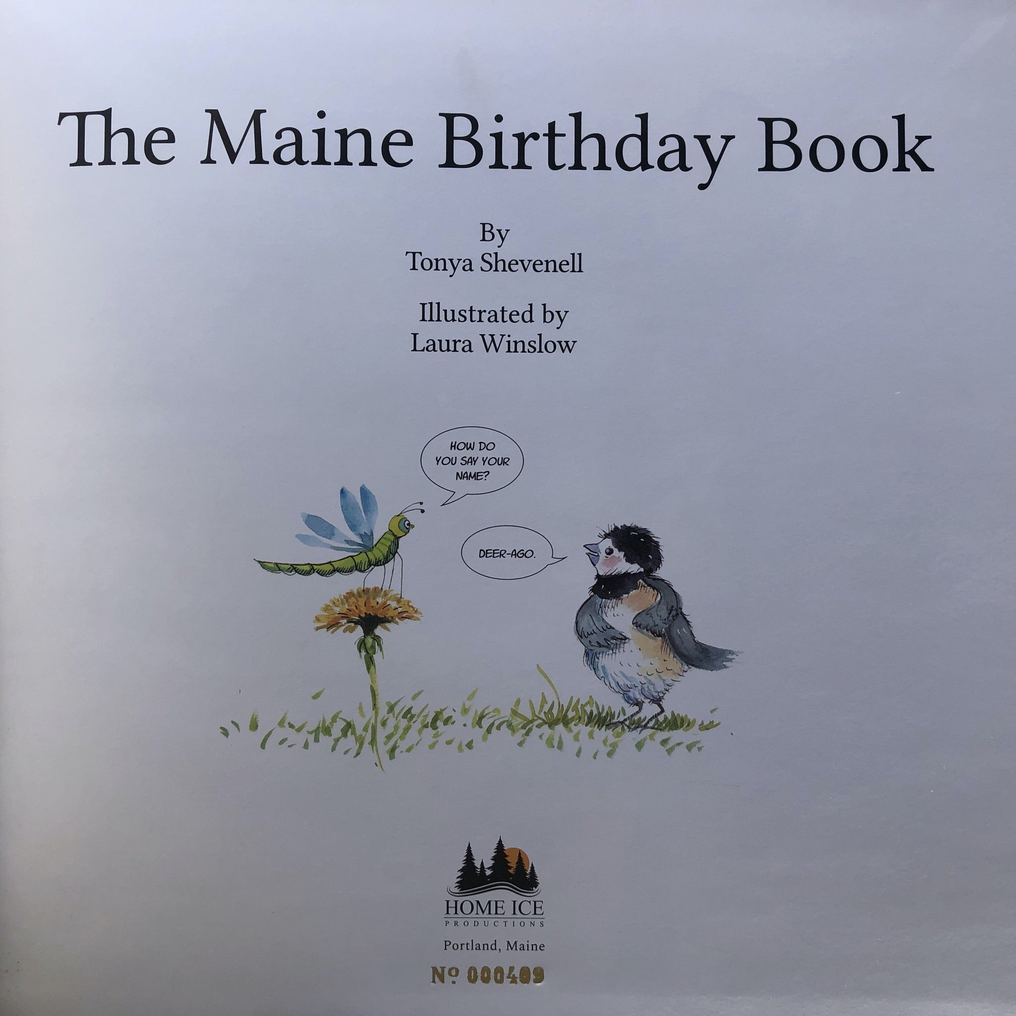 SPECIAL: The Maine Birthday Book - Two-book Package with 4 note cards: Book No. 409, and one non-numbered book