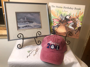 Celebrate Maine & Portland Head Light Bundle #1 with Book 436 from the first printing of The Maine Birthday Book