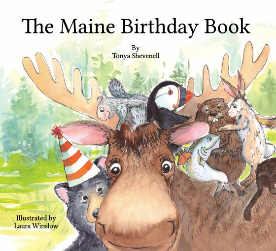 Book No. 257 - The Maine Birthday Book - Special collection: gold foil numbered book
