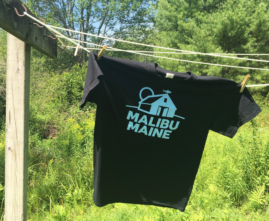 Malibu Maine Barn Logo T-Shirt - Black