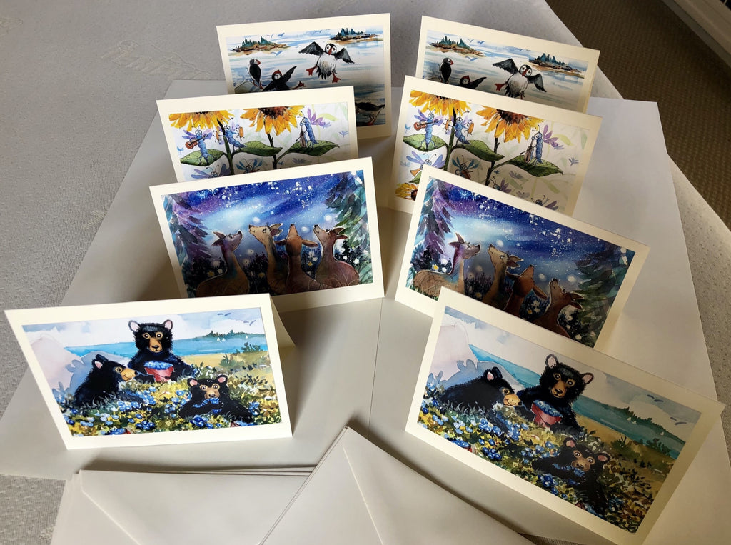 Photo Note Cards: Set of 8 with Envelopes - Animals & Scenes from The Maine Birthday Book