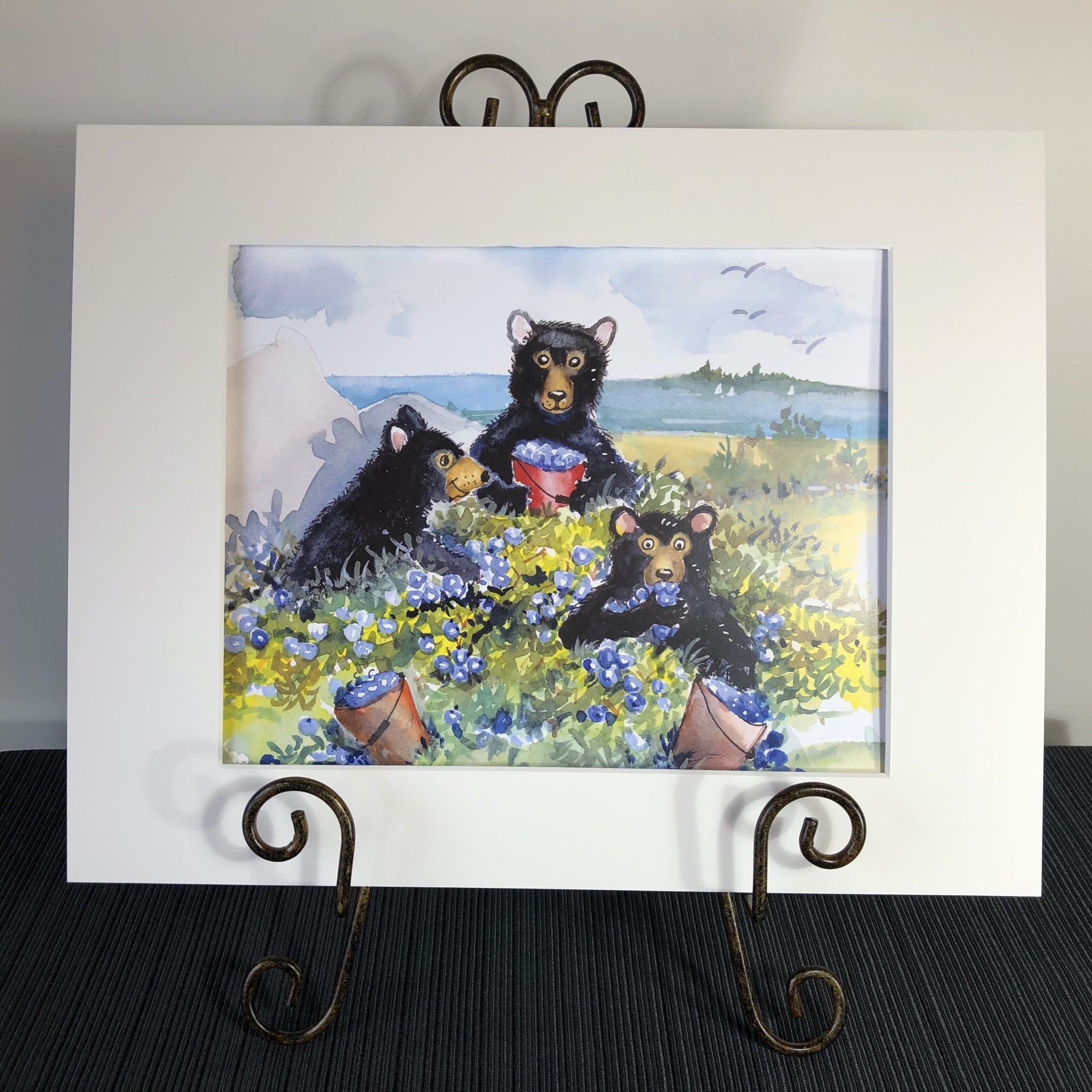 Art Print: Wild Blueberries for Bears