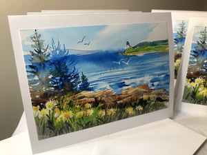 Maine Landscape Photo Note Cards: Set of 6 with Envelopes