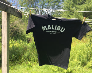 Malibu Maine Est. 2016 T-Shirt - Black