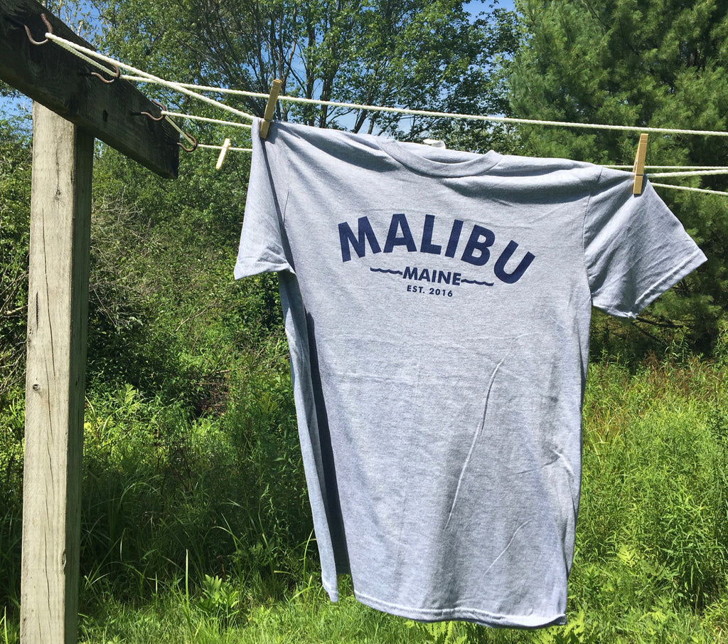 Malibu Maine Est. 2016 T-Shirt - Light Grey