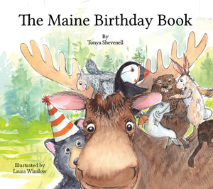 WINTER SPECIAL: The Maine Birthday Book - Two-book Package with 4 note cards: Book No. 296, and one non-numbered book