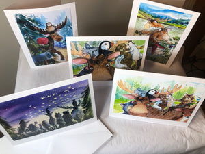 The Moose Collection: Set of 5 Photo Note Cards with Envelopes, Illustrations from The Maine Birthday Book