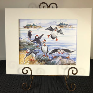 Art Print: The Puffins at Play