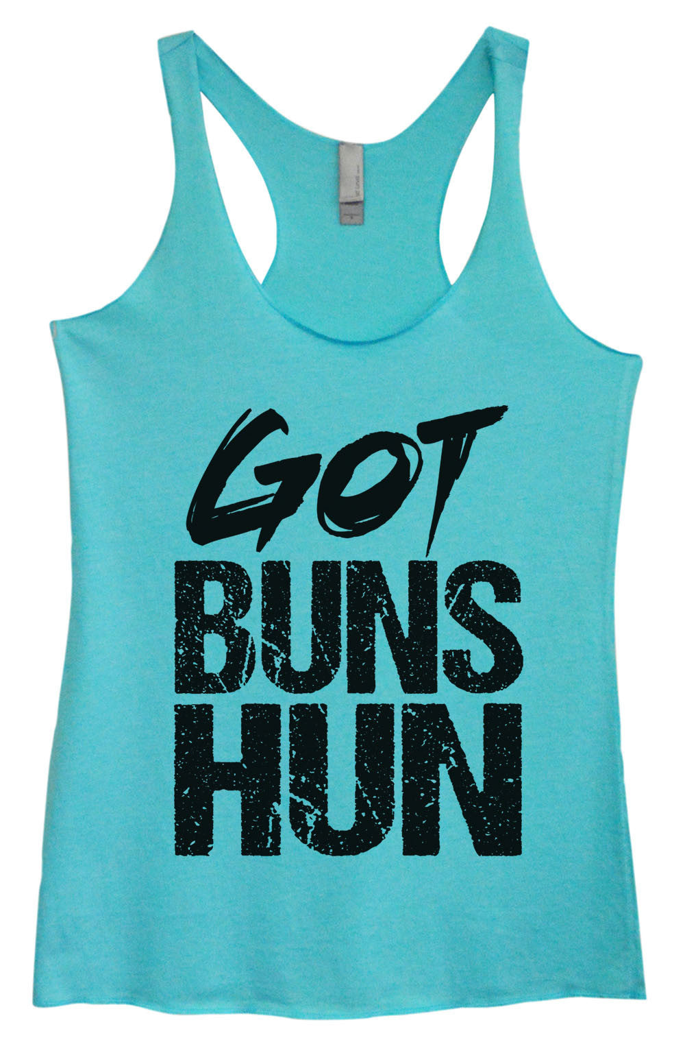 Womens Fashion Triblend Tank Top - Got Buns Hun - Tri-1006 - Funny Shirts Tank Tops Burnouts and Triblends  - 2