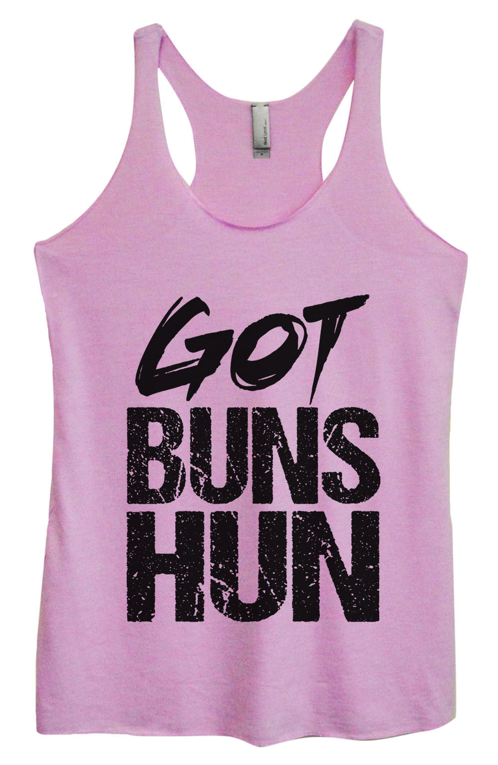 Womens Fashion Triblend Tank Top - Got Buns Hun - Tri-1006 - Funny Shirts Tank Tops Burnouts and Triblends  - 3