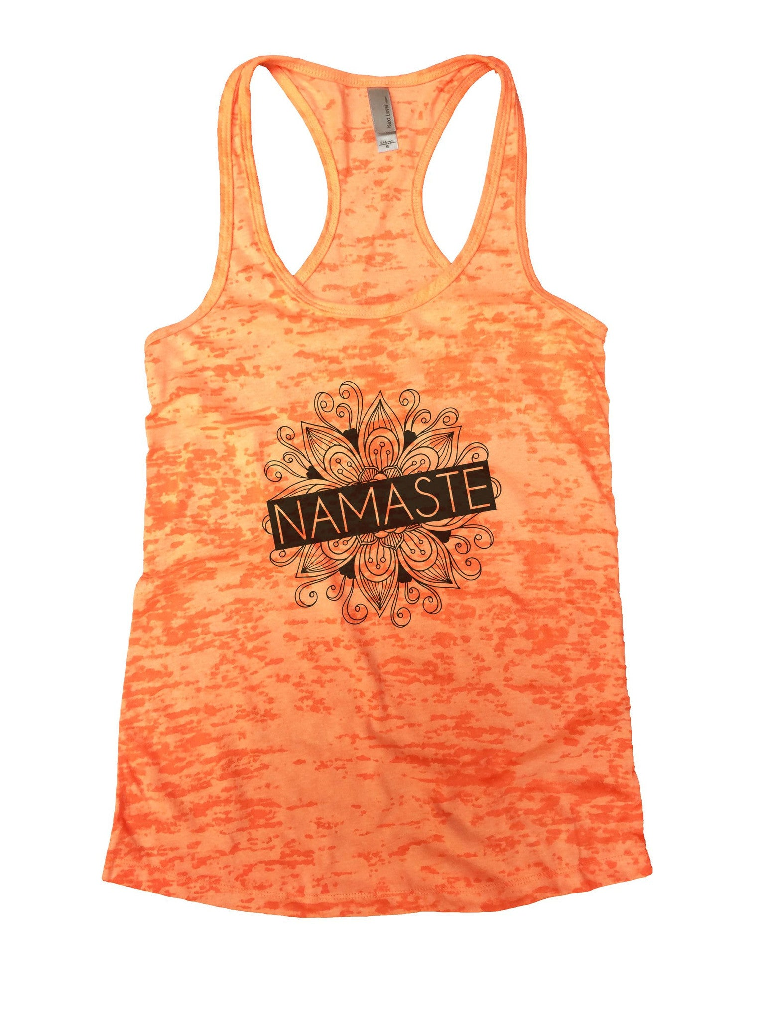 Namaste Burnout Tank Top By BurnoutTankTops.com - 1016 - Funny Shirts Tank Tops Burnouts and Triblends  - 3