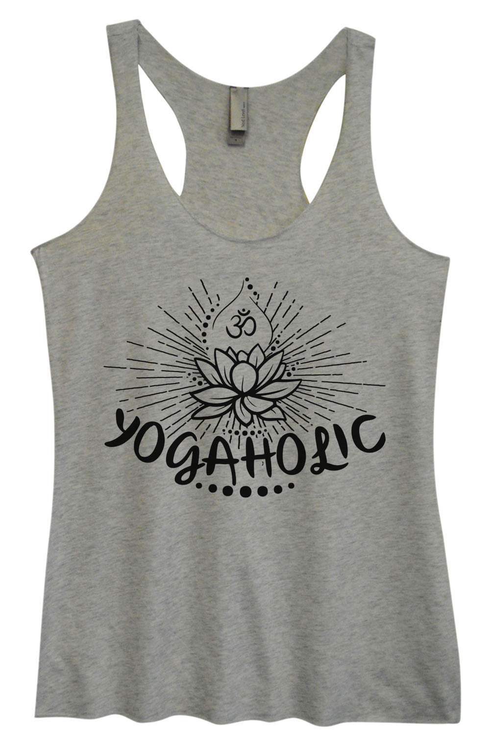 Womens Fashion Triblend Tank Top - Yogaholic - Tri-1017 - Funny Shirts Tank Tops Burnouts and Triblends  - 2