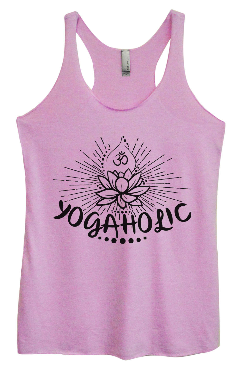 Womens Fashion Triblend Tank Top - Yogaholic - Tri-1017 - Funny Shirts Tank Tops Burnouts and Triblends  - 3