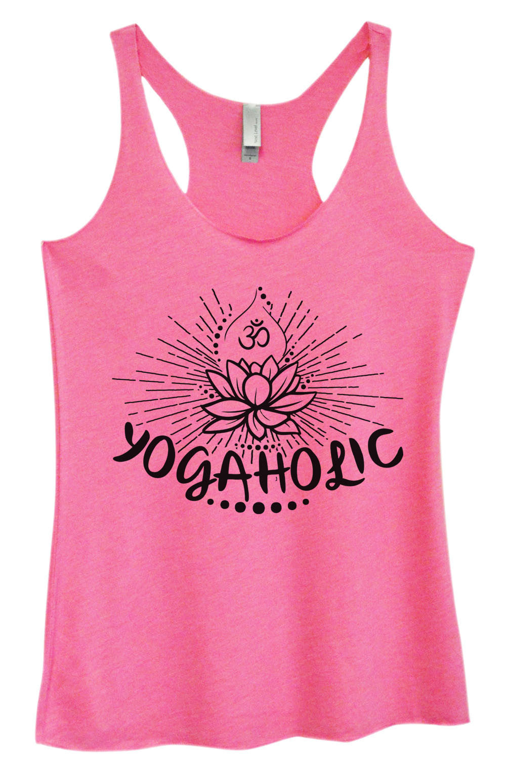 Womens Fashion Triblend Tank Top - Yogaholic - Tri-1017 - Funny Shirts Tank Tops Burnouts and Triblends  - 1