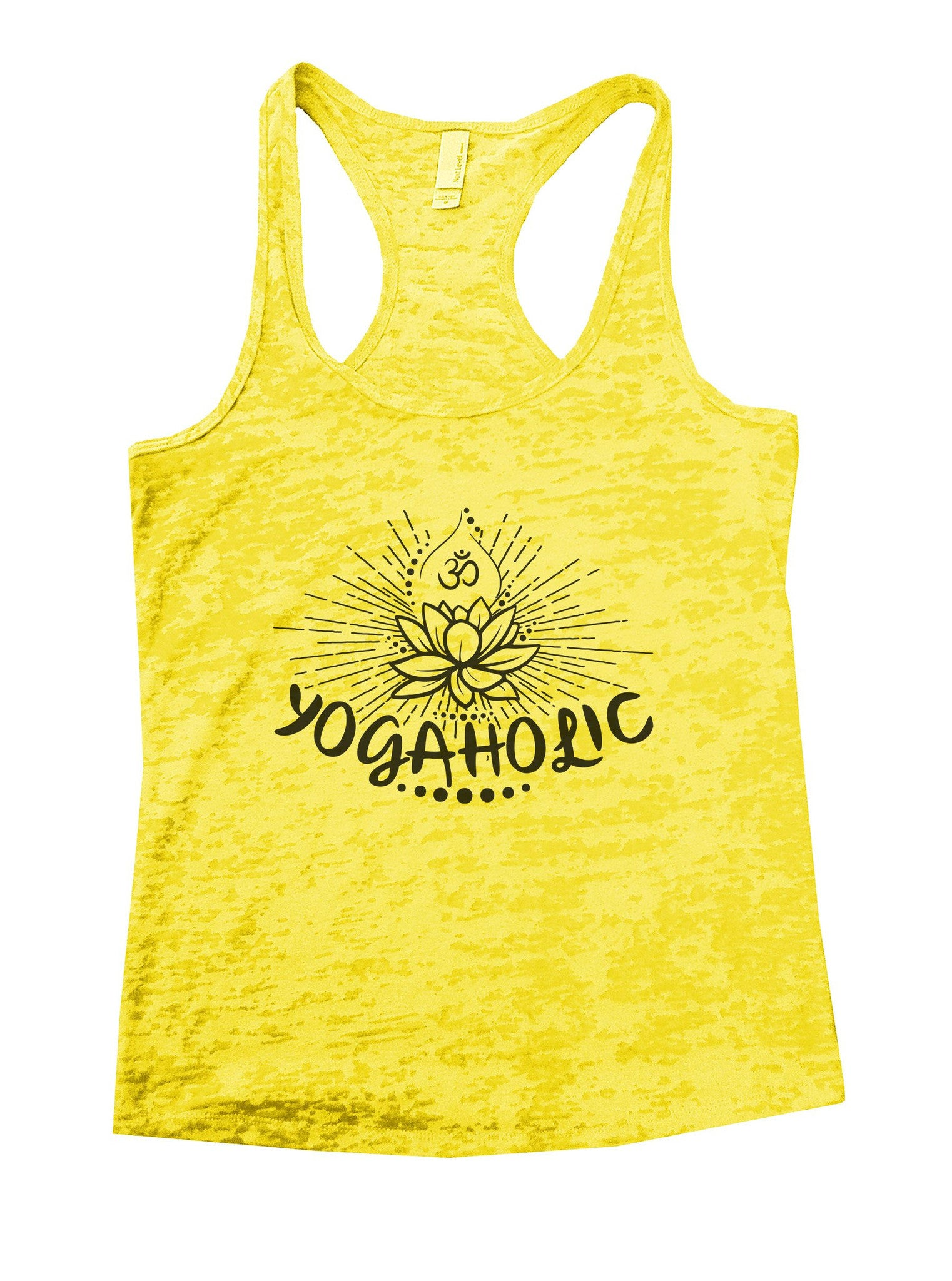Yogaholic Burnout Tank Top By BurnoutTankTops.com - 1017 - Funny Shirts Tank Tops Burnouts and Triblends  - 7