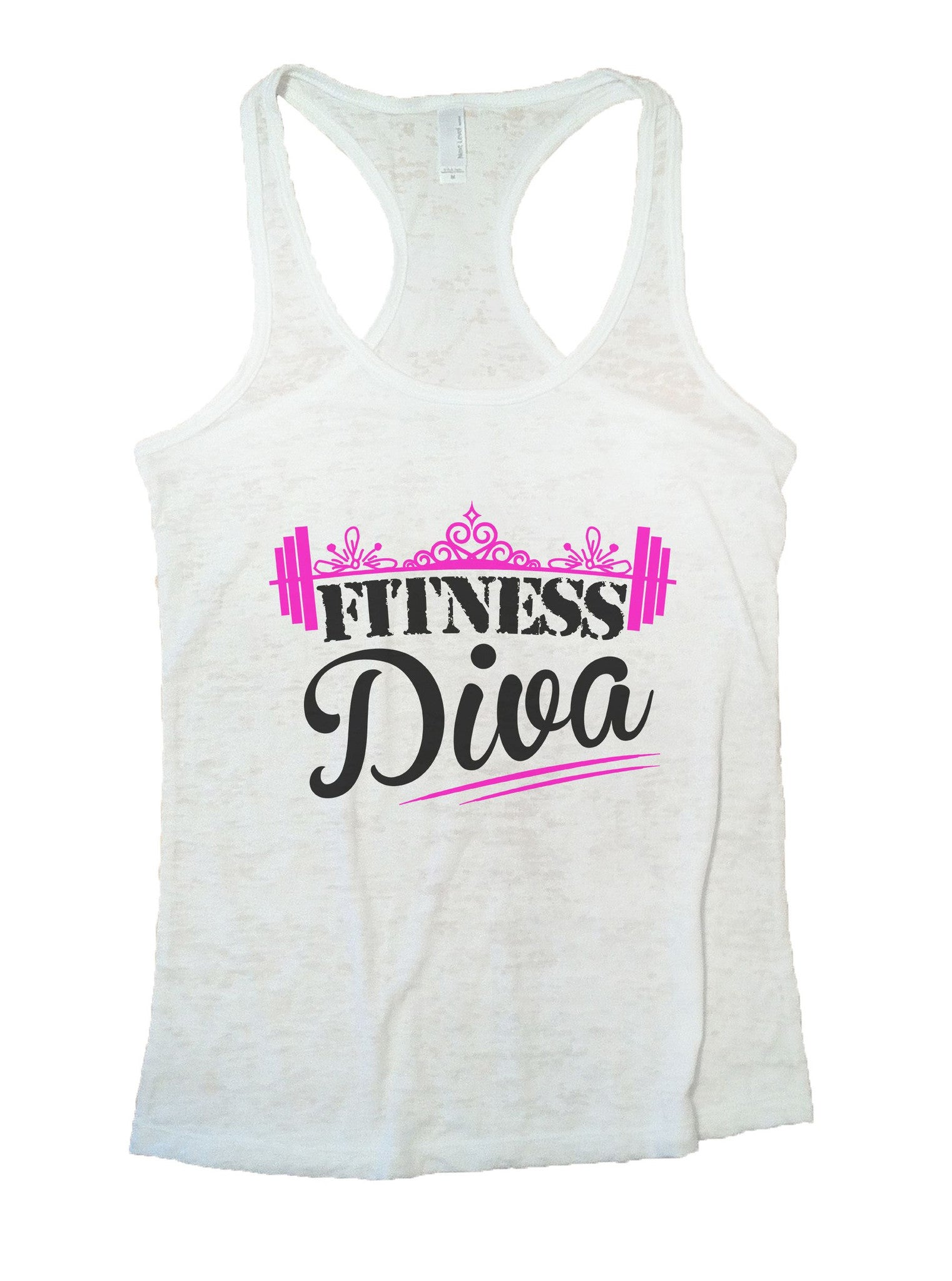 Fitness Diva Burnout Tank Top By BurnoutTankTops.com - 1050 - Funny Shirts Tank Tops Burnouts and Triblends  - 6