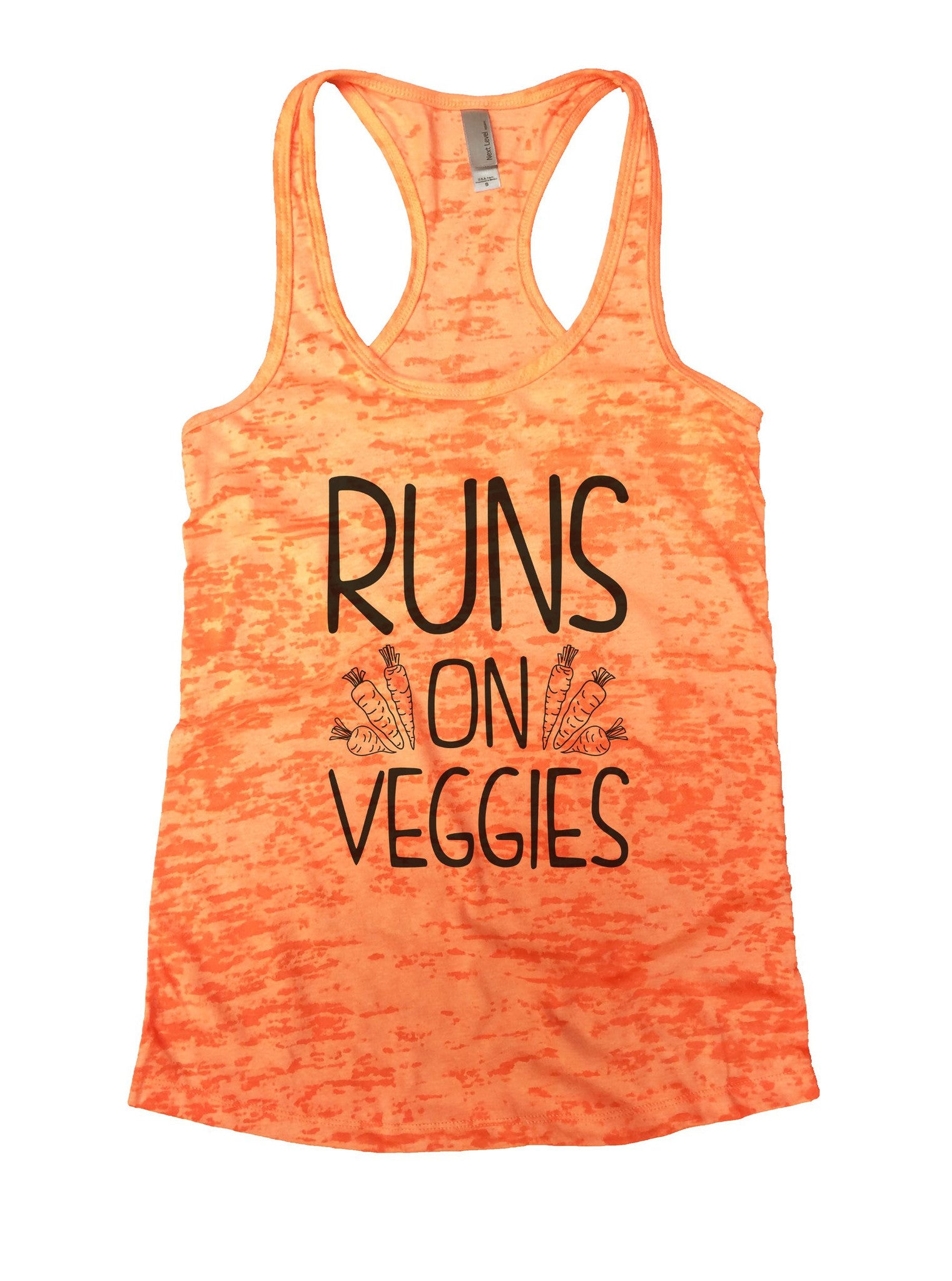 Runs On Veggies Burnout Tank Top By BurnoutTankTops.com - 1074 - Funny Shirts Tank Tops Burnouts and Triblends  - 3