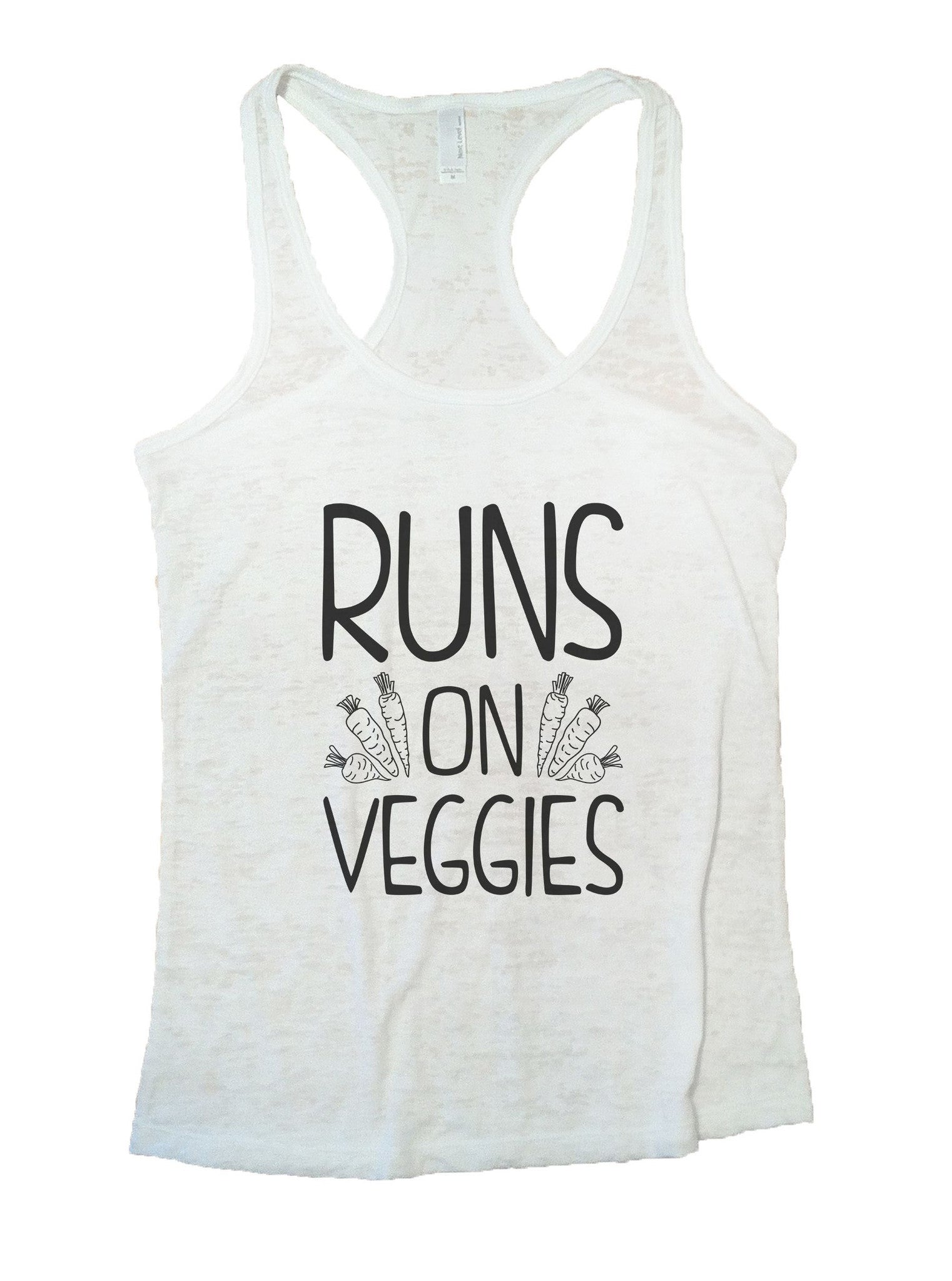 Runs On Veggies Burnout Tank Top By BurnoutTankTops.com - 1074 - Funny Shirts Tank Tops Burnouts and Triblends  - 6