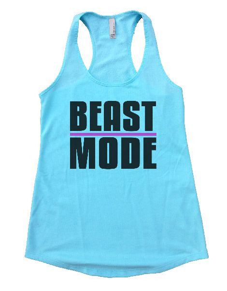 Beast Mode Womens Workout Tank Top 1107 - Funny Shirts Tank Tops Burnouts and Triblends  - 2
