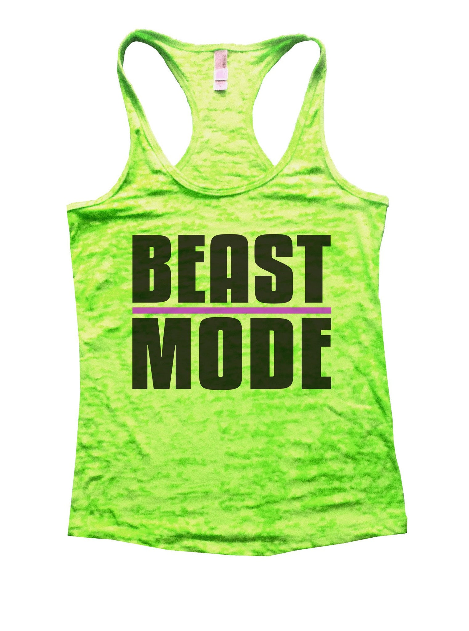 Beast Mode Burnout Tank Top By BurnoutTankTops.com - 1107 - Funny Shirts Tank Tops Burnouts and Triblends  - 2