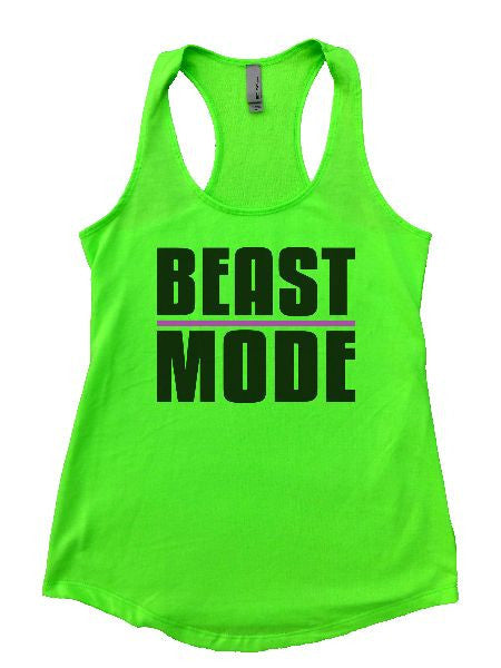 Beast Mode Womens Workout Tank Top 1107 - Funny Shirts Tank Tops Burnouts and Triblends  - 3