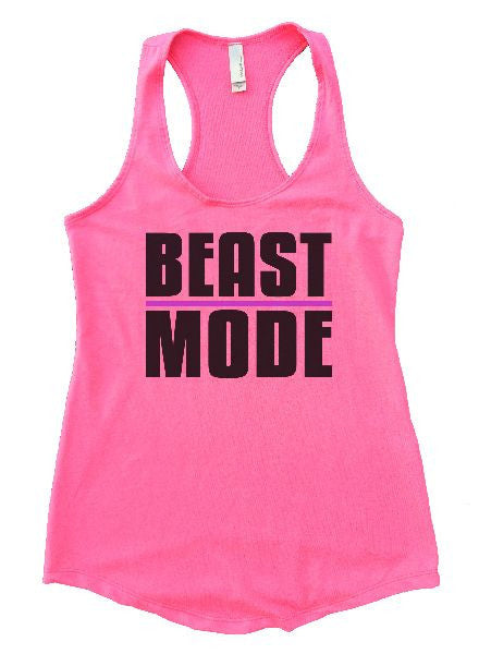 Beast Mode Womens Workout Tank Top 1107 - Funny Shirts Tank Tops Burnouts and Triblends  - 1