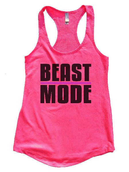 Beast Mode Womens Workout Tank Top 1107 - Funny Shirts Tank Tops Burnouts and Triblends  - 5