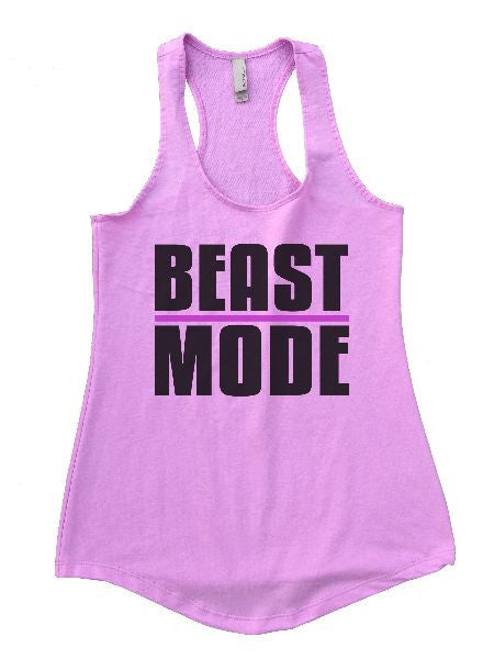 Beast Mode Womens Workout Tank Top 1107 - Funny Shirts Tank Tops Burnouts and Triblends  - 4