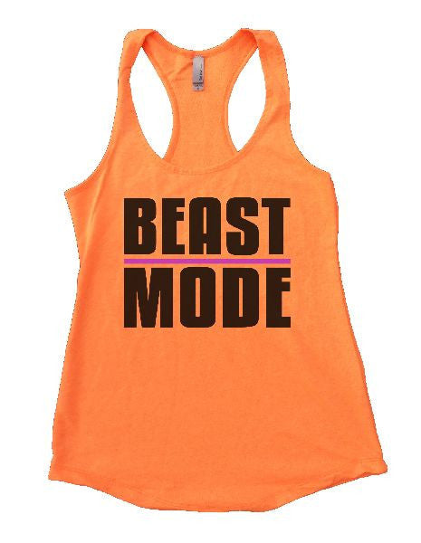 Beast Mode Womens Workout Tank Top 1107 - Funny Shirts Tank Tops Burnouts and Triblends  - 6