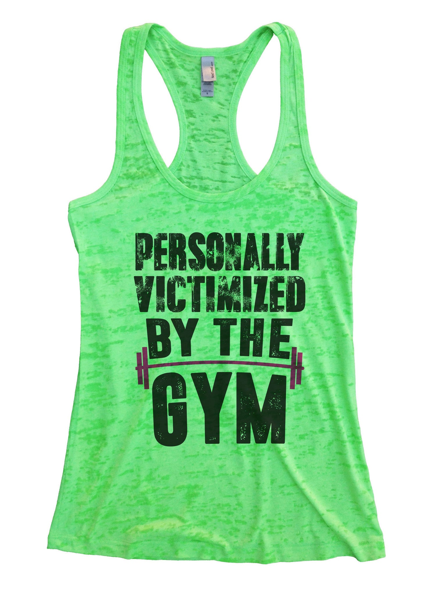 Personally Victimized By The Gym Burnout Tank Top By BurnoutTankTops.com - 1109 - Funny Shirts Tank Tops Burnouts and Triblends  - 2