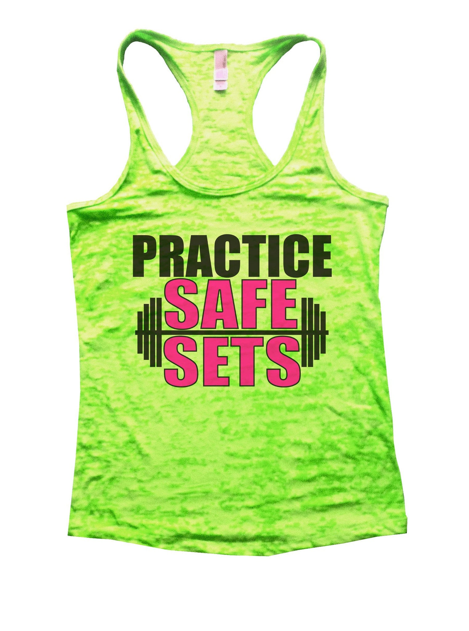 Practice Safe Sets Burnout Tank Top By BurnoutTankTops.com - 1124 - Funny Shirts Tank Tops Burnouts and Triblends  - 2