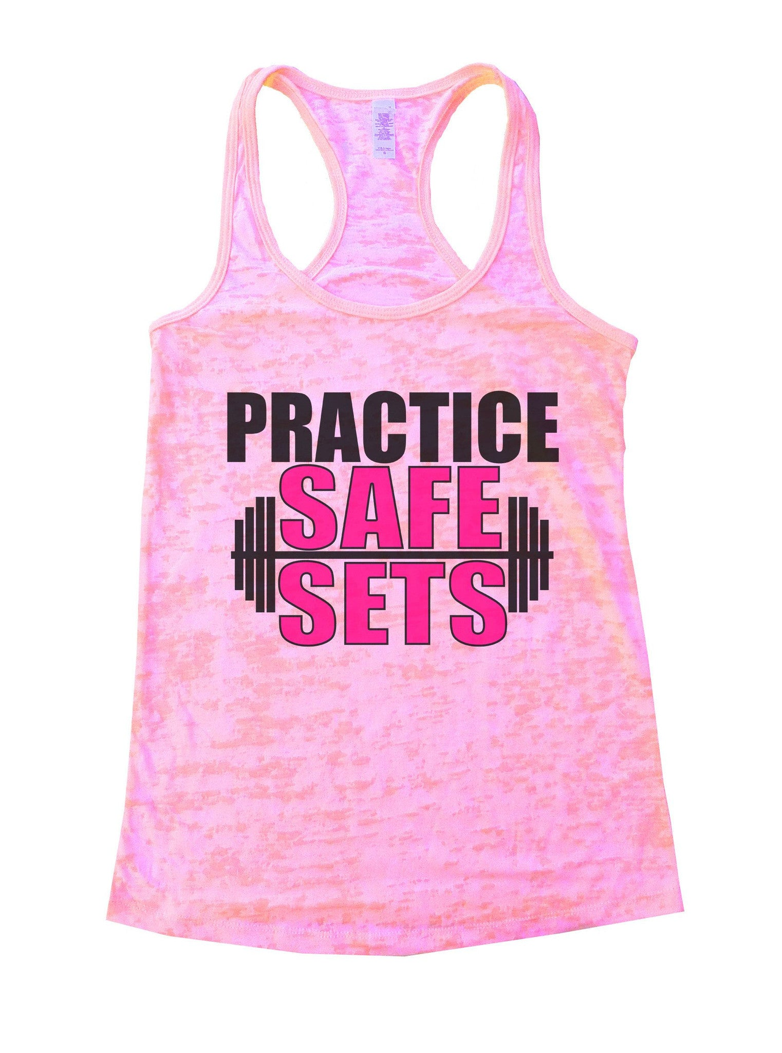 Practice Safe Sets Burnout Tank Top By BurnoutTankTops.com - 1124 - Funny Shirts Tank Tops Burnouts and Triblends  - 3