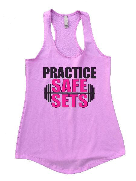 Practice Safe Sets Womens Workout Tank Top 1124 - Funny Shirts Tank Tops Burnouts and Triblends  - 4