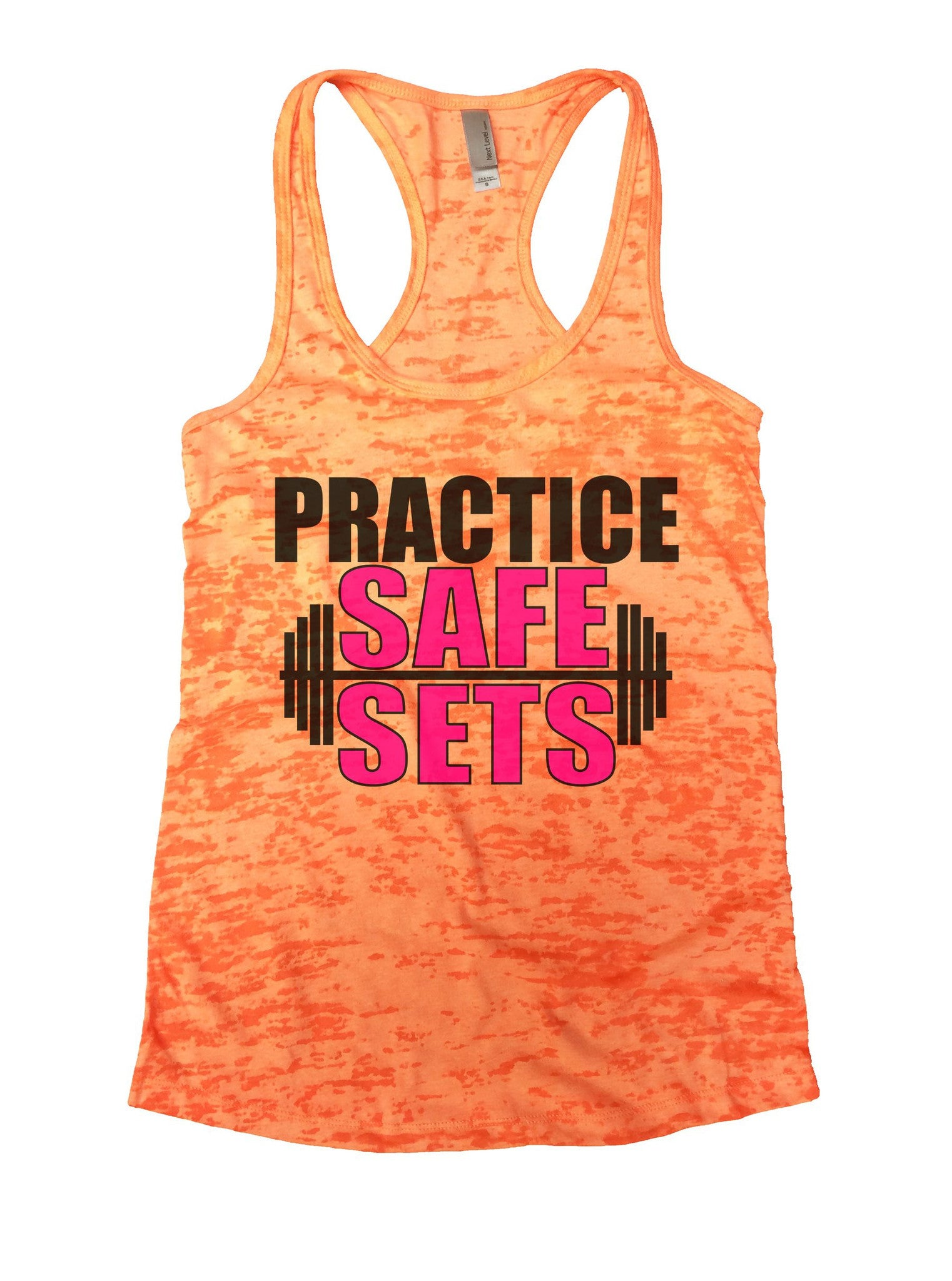 Practice Safe Sets Burnout Tank Top By BurnoutTankTops.com - 1124 - Funny Shirts Tank Tops Burnouts and Triblends  - 4