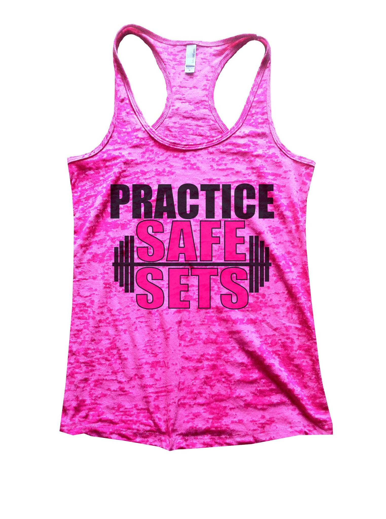 Practice Safe Sets Burnout Tank Top By BurnoutTankTops.com - 1124 - Funny Shirts Tank Tops Burnouts and Triblends  - 6