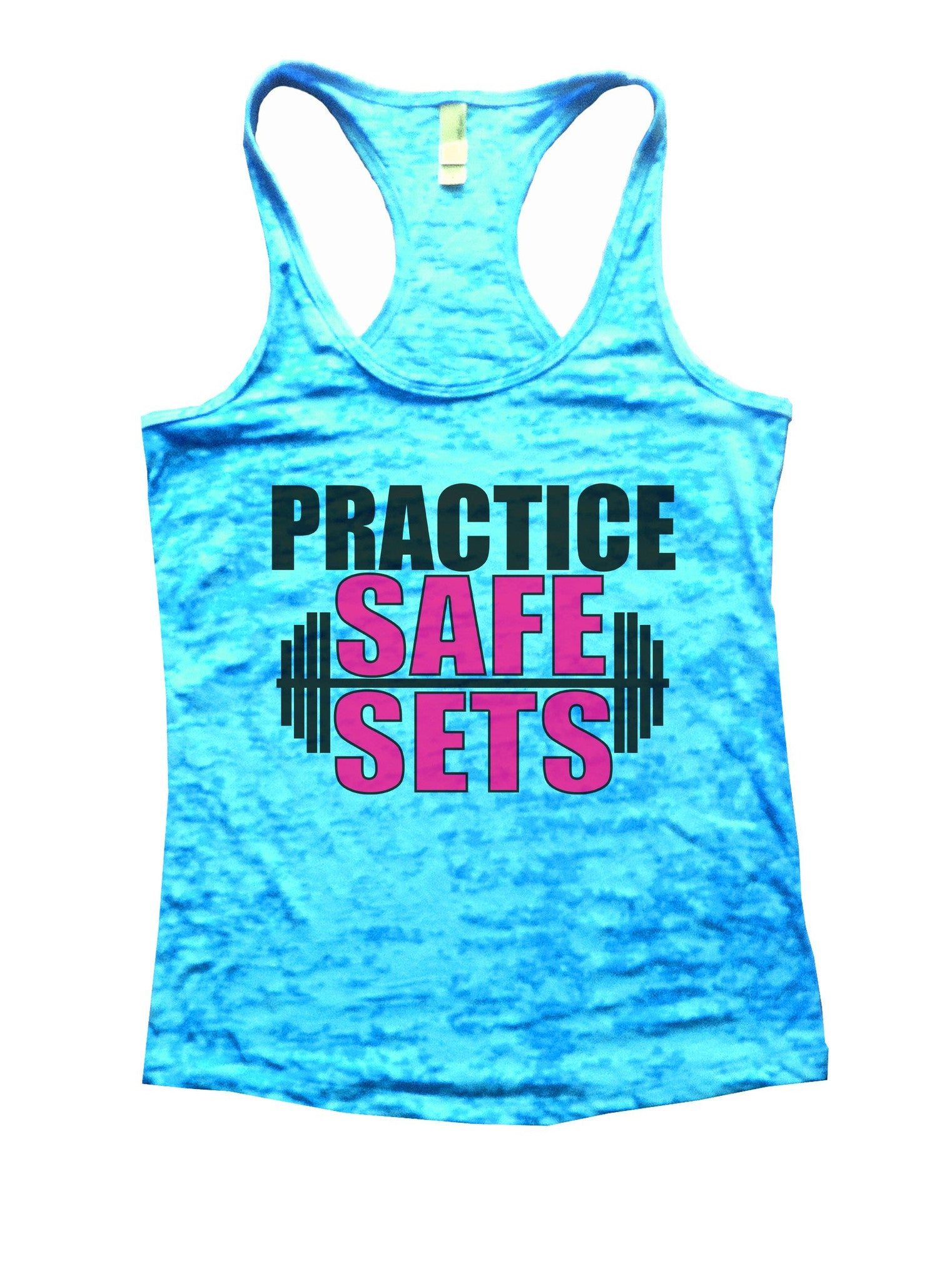 Practice Safe Sets Burnout Tank Top By BurnoutTankTops.com - 1124 - Funny Shirts Tank Tops Burnouts and Triblends  - 5