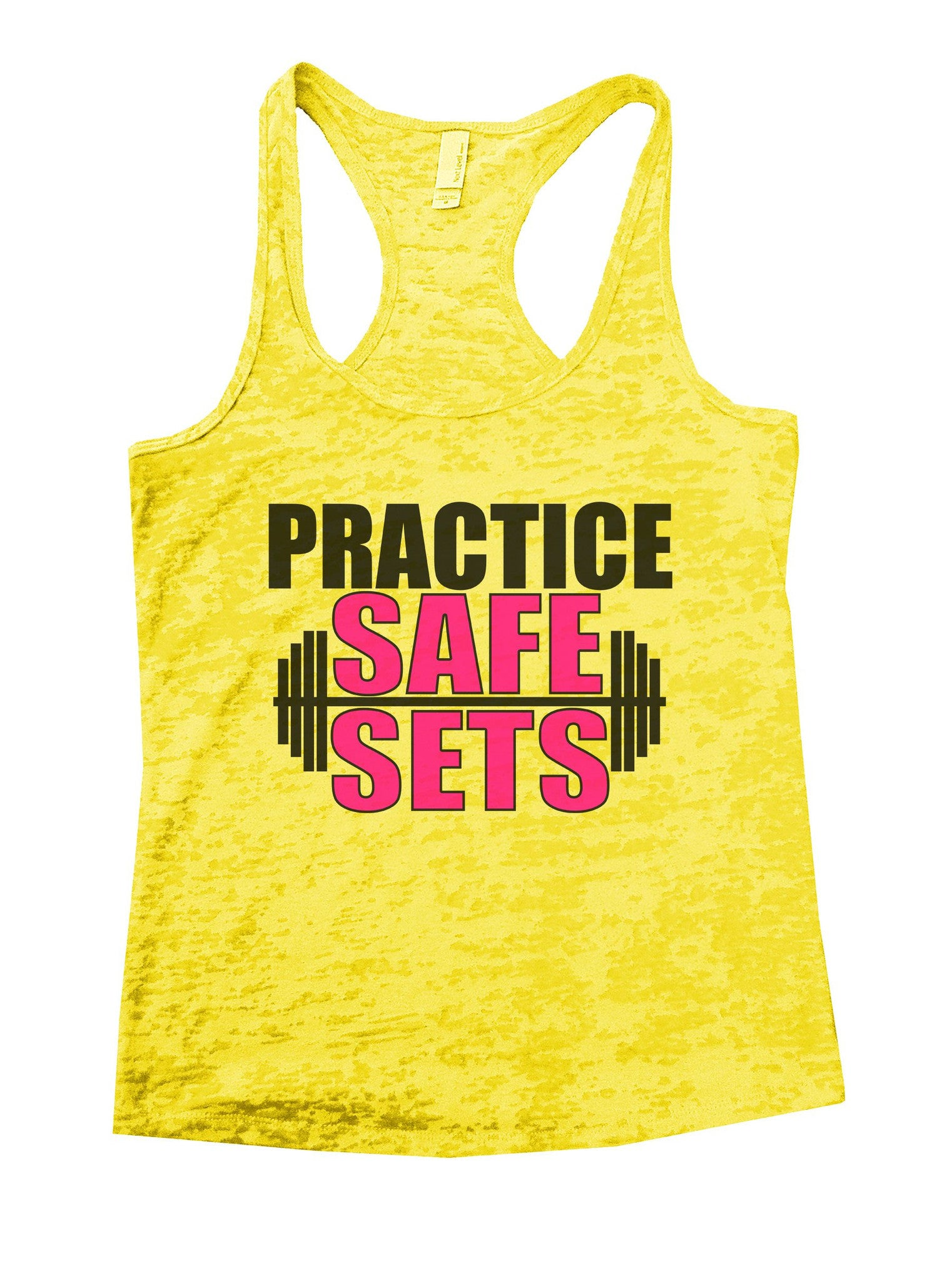 Practice Safe Sets Burnout Tank Top By BurnoutTankTops.com - 1124 - Funny Shirts Tank Tops Burnouts and Triblends  - 7