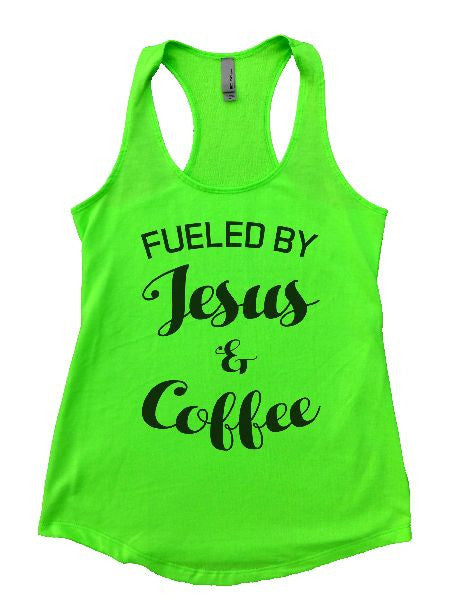 Fueled By Jesus & Coffee Womens Workout Tank Top 1128 - Funny Shirts Tank Tops Burnouts and Triblends  - 2