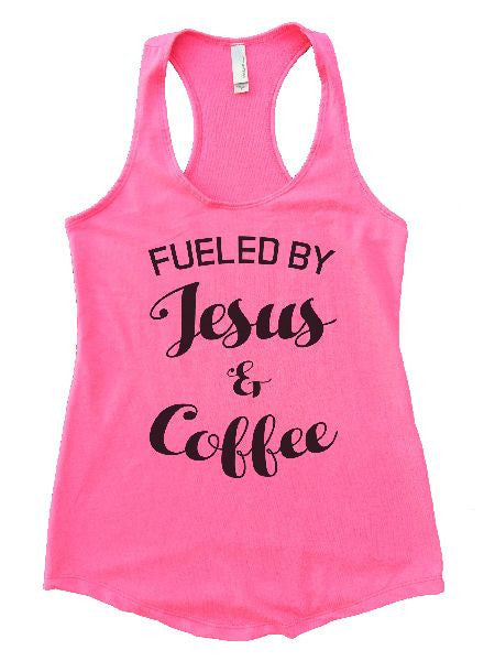 Fueled By Jesus & Coffee Womens Workout Tank Top 1128 - Funny Shirts Tank Tops Burnouts and Triblends  - 4