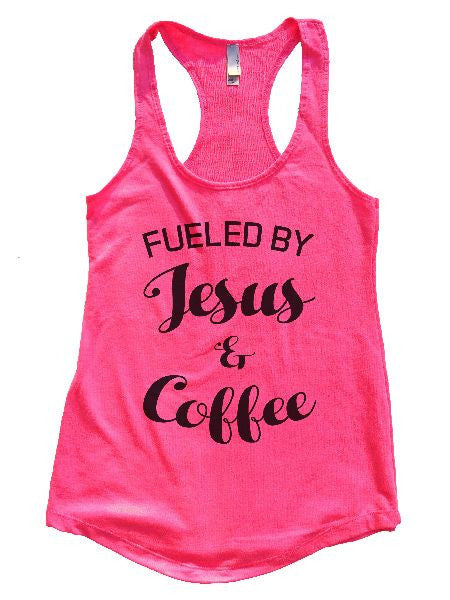 Fueled By Jesus & Coffee Womens Workout Tank Top 1128 - Funny Shirts Tank Tops Burnouts and Triblends  - 3
